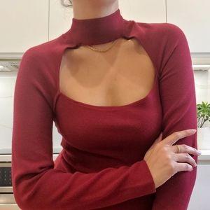NWT Dynamite sexy knit top